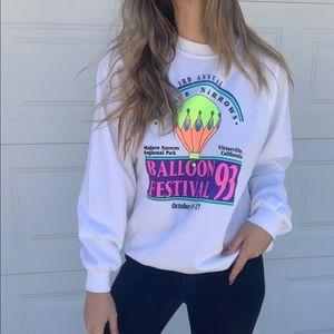 90's Neon Hot Balloon Sweatshirt